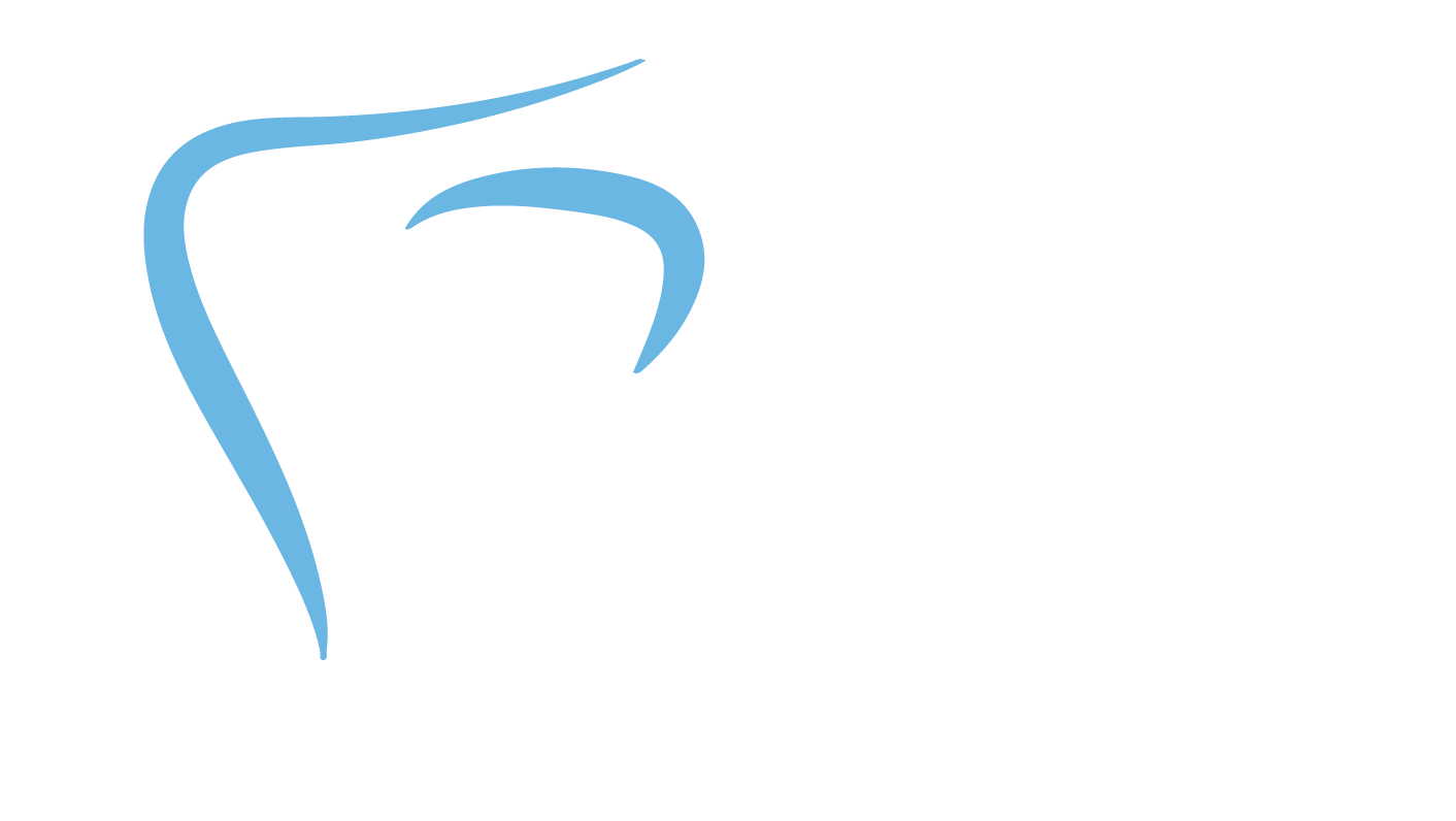 Town & County Dental Care logo full size png high res white
